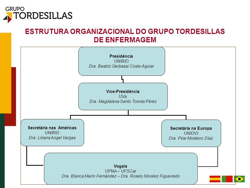 ESTRUTURA ORGANIZACIONAL DO GRUPO TORDESILLAS DE ENFERMAGEM