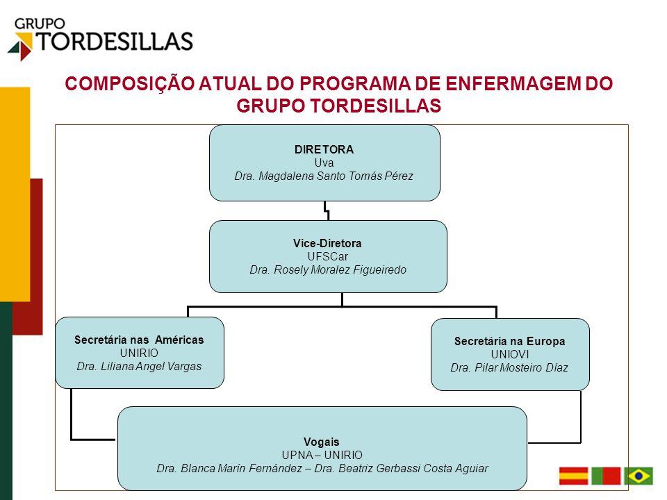 COMPOSIÇÃO ATUAL DO PROGRAMA DE ENFERMAGEM DO GRUPO TORDESILLAS