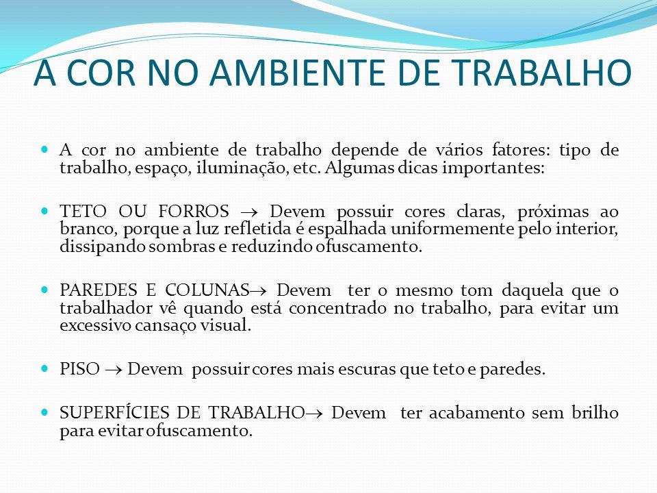 A COR NO AMBIENTE DE TRABALHO