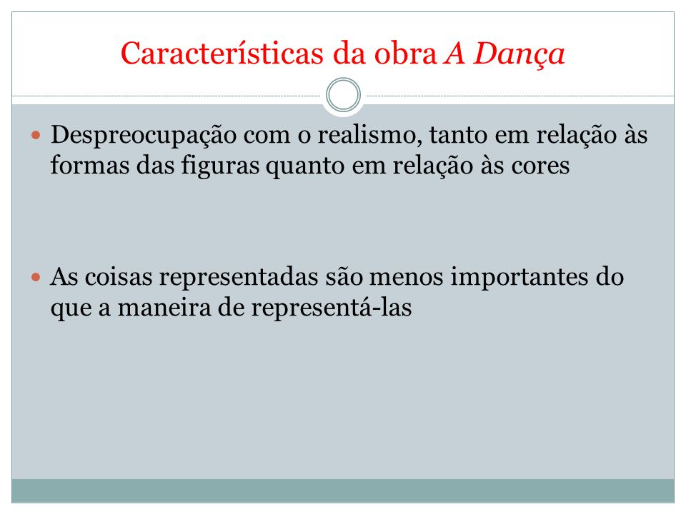 Características da obra A Dança