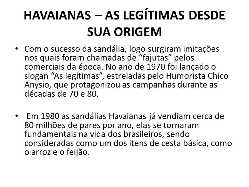 HAVAIANAS – AS LEGÍTIMAS DESDE SUA ORIGEM