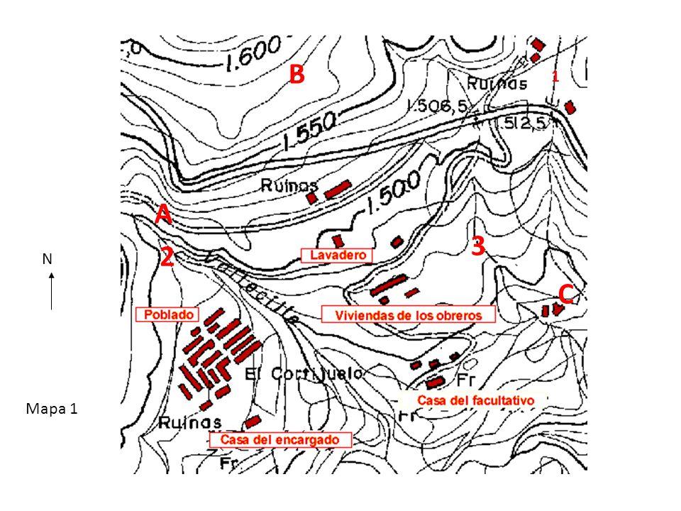 B 1 A 3 2 N C Mapa 1