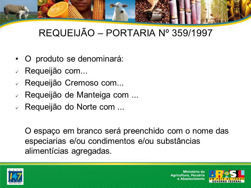 REQUEIJÃO – PORTARIA Nº 359/1997