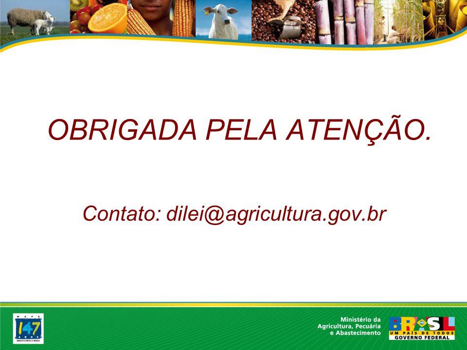 Contato: dilei@agricultura.gov.br