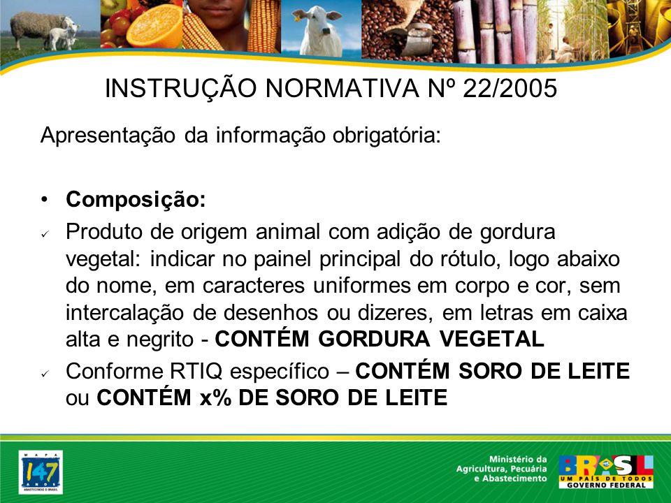 INSTRUÇÃO NORMATIVA Nº 22/2005