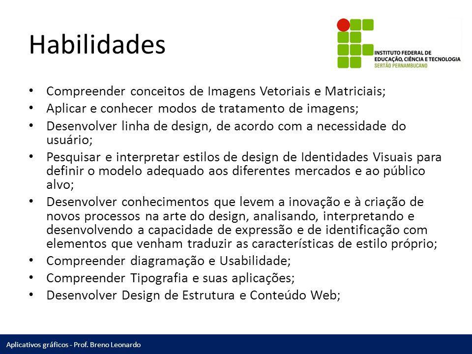 Habilidades Compreender conceitos de Imagens Vetoriais e Matriciais;