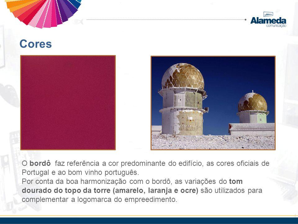 Cores O bordô faz referência a cor predominante do edifício, as cores oficiais de Portugal e ao bom vinho português.