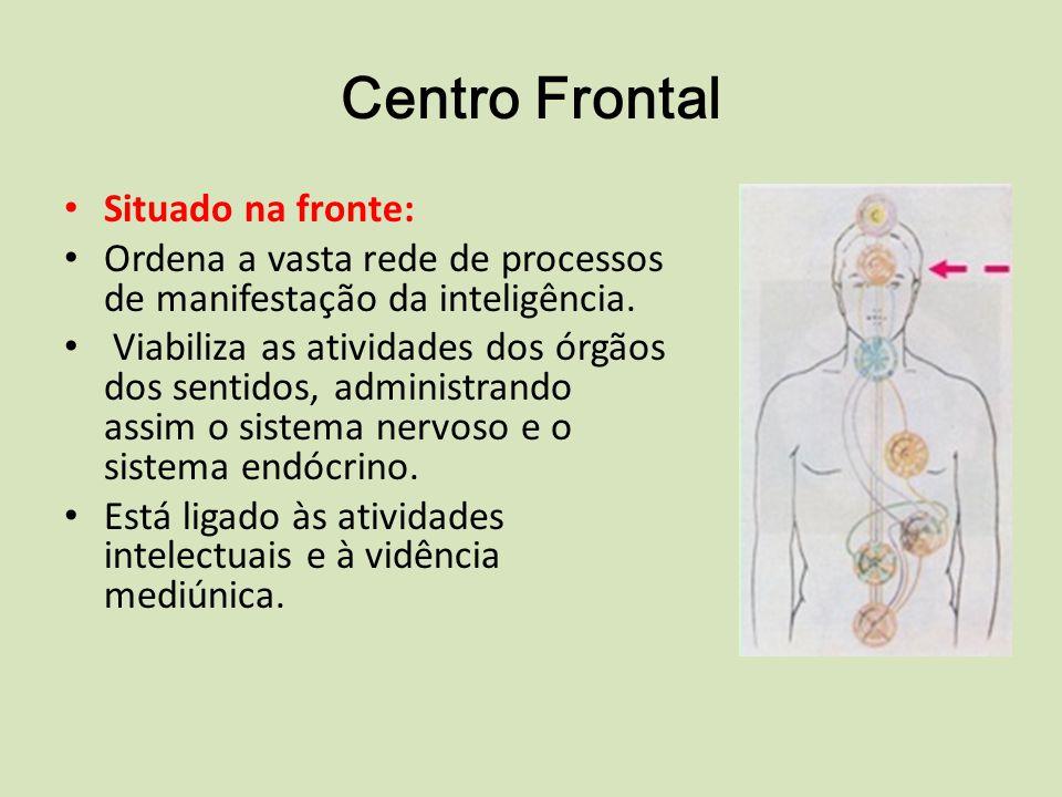 Centro Frontal Situado na fronte: