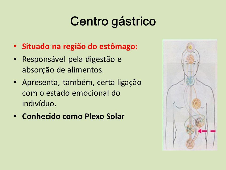 Centro gástrico Situado na região do estômago: