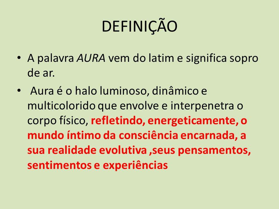 DEFINIÇÃO A palavra AURA vem do latim e significa sopro de ar.