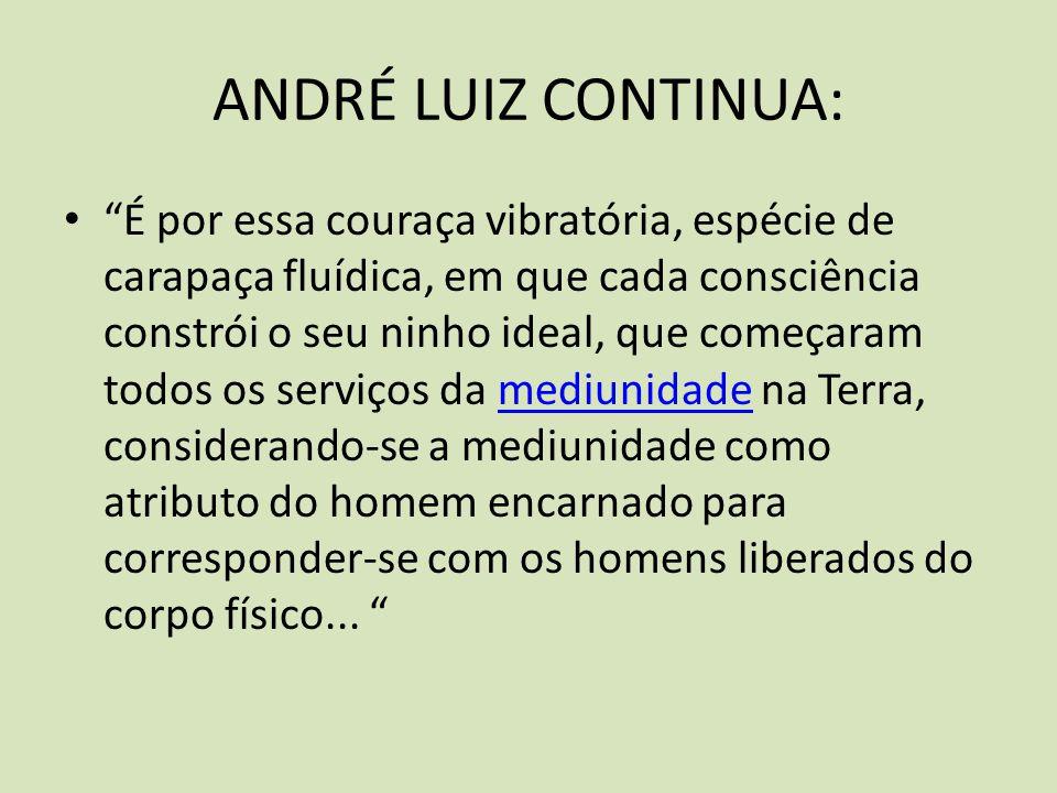 ANDRÉ LUIZ CONTINUA: