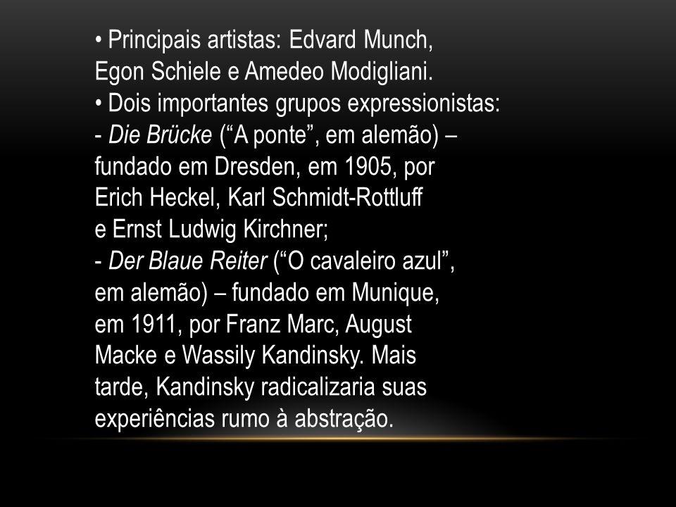 • Principais artistas: Edvard Munch,