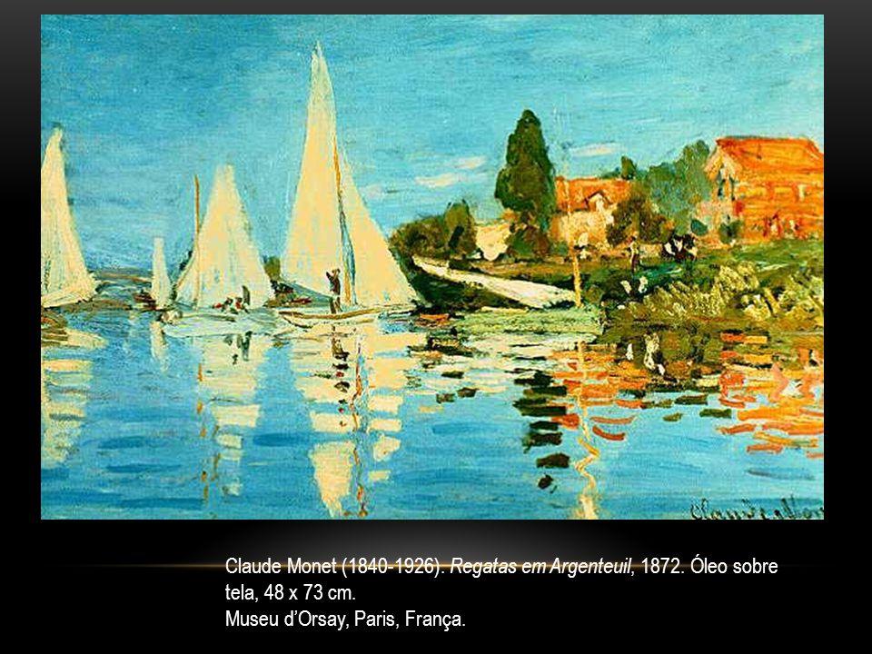 Claude Monet (1840-1926). Regatas em Argenteuil, 1872