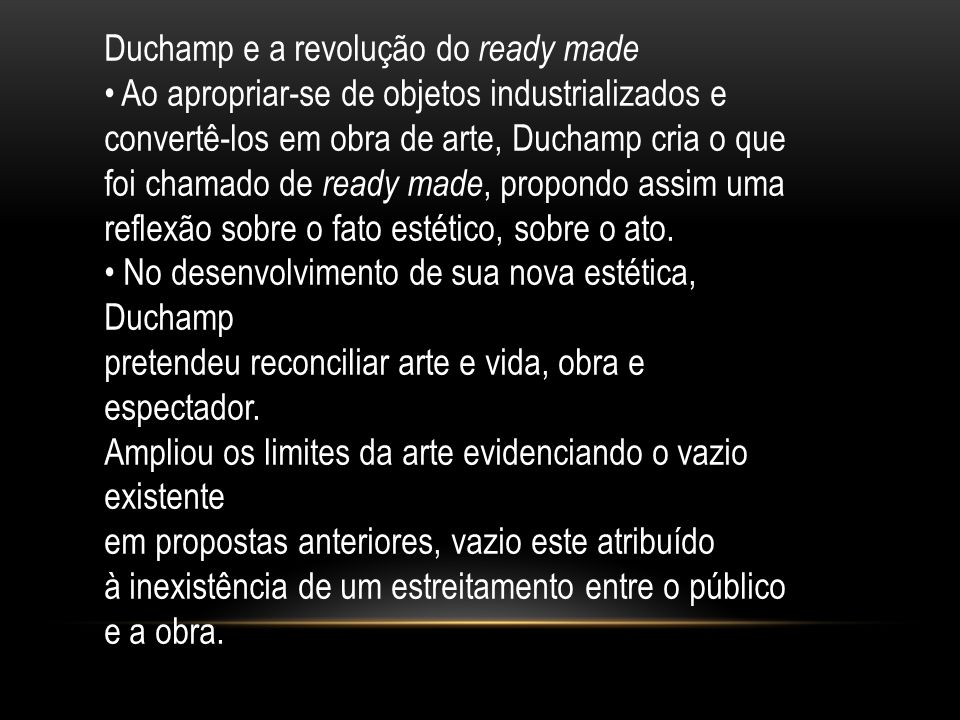 Duchamp e a revolução do ready made