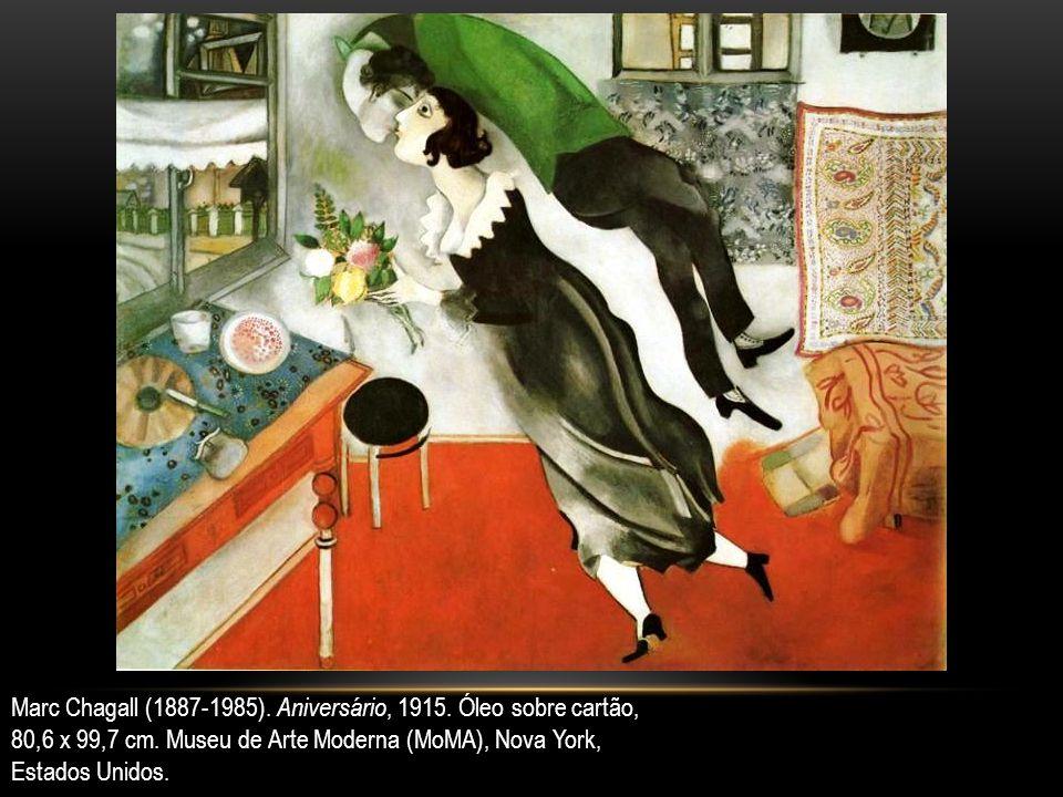 Marc Chagall (1887-1985). Aniversário, 1915. Óleo sobre cartão,
