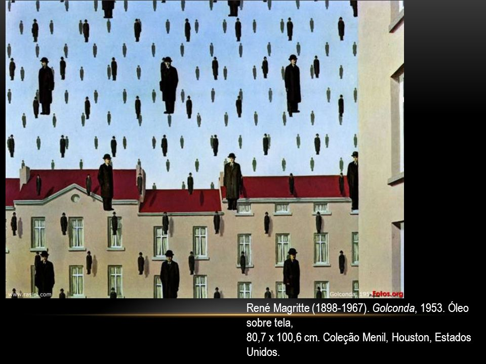 René Magritte (1898-1967). Golconda, 1953. Óleo sobre tela,