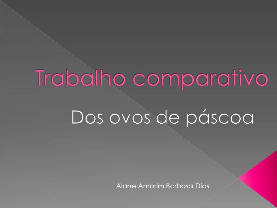 Trabalho comparativo Dos ovos de páscoa Alane Amorim Barbosa Dias
