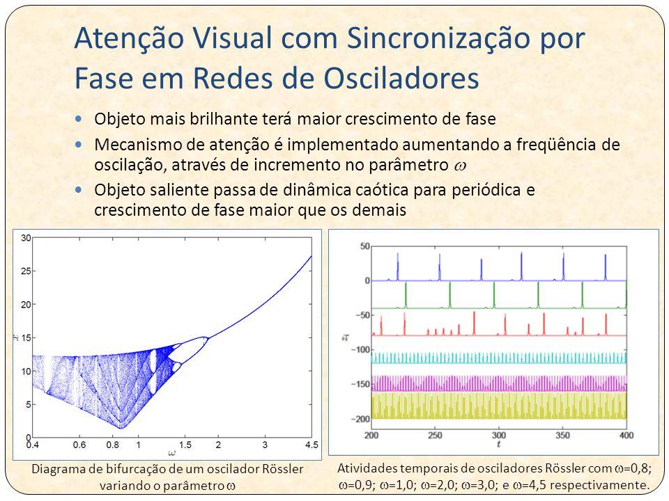 Atenção Visual com Sincronização por Fase em Redes de Osciladores