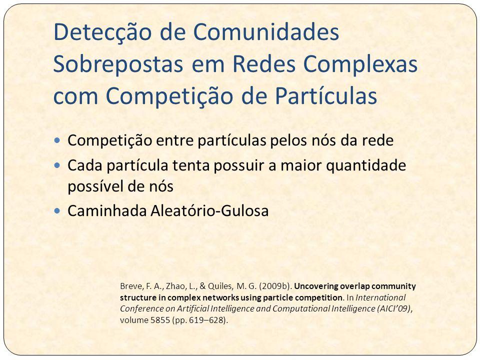 Detecção de Comunidades Sobrepostas em Redes Complexas com Competição de Partículas