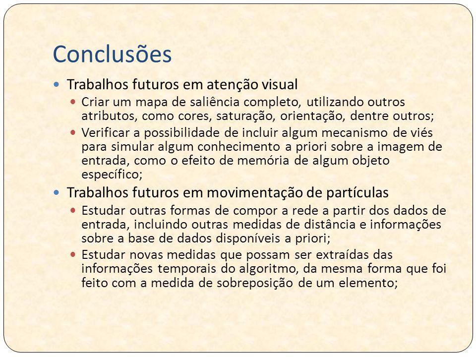 Conclusões Trabalhos futuros em atenção visual