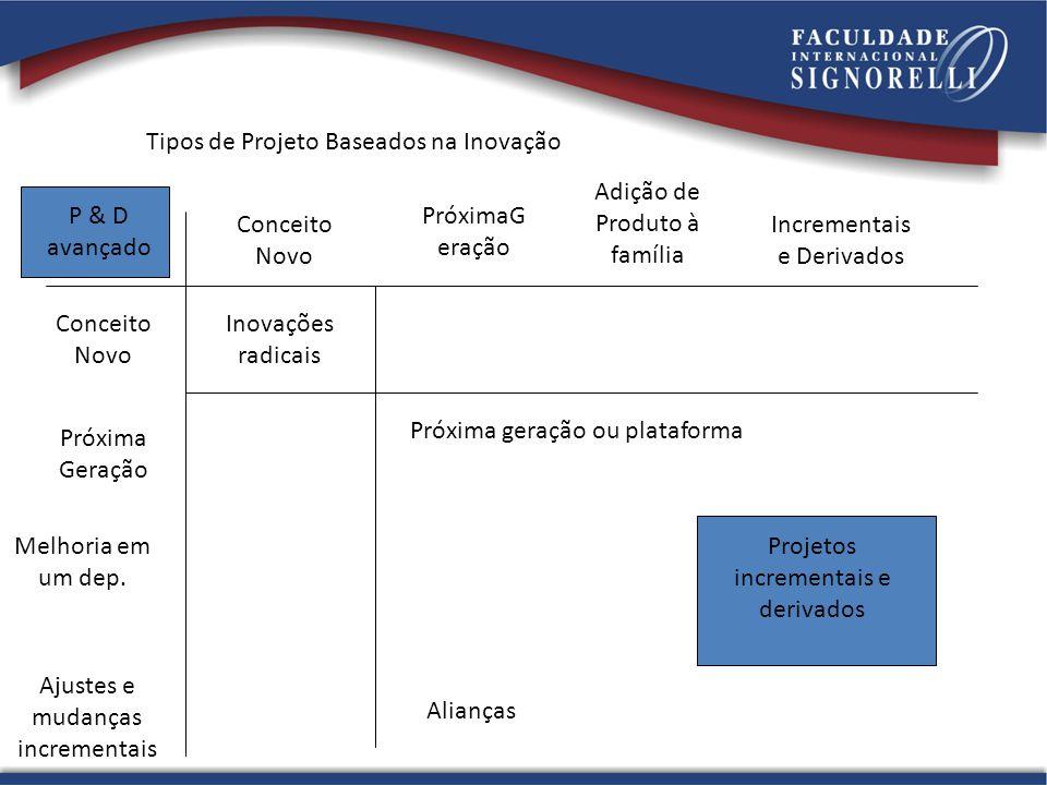Tipos de Projeto Baseados na Inovação