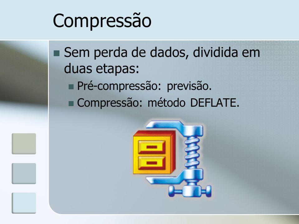Compressão Sem perda de dados, dividida em duas etapas: