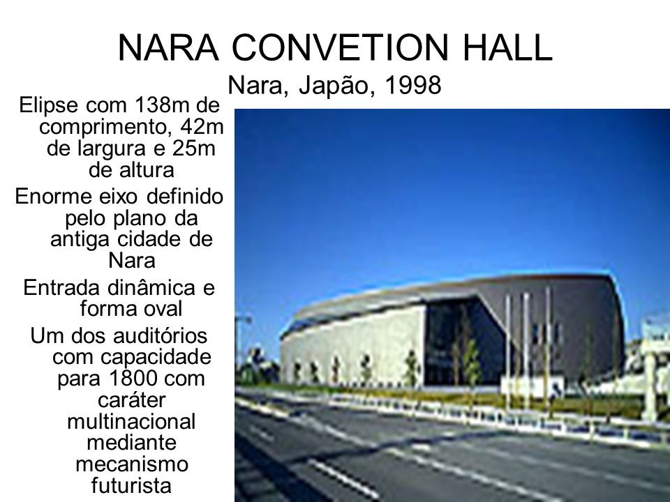 NARA CONVETION HALL Nara, Japão, 1998