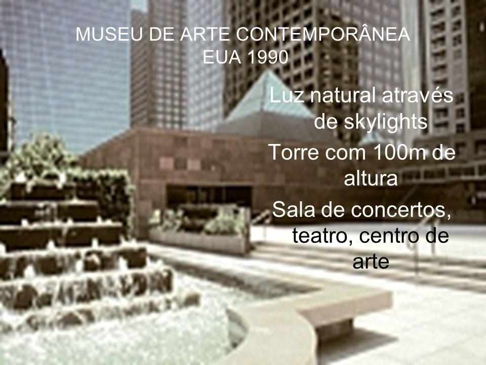 MUSEU DE ARTE CONTEMPORÂNEA EUA 1990