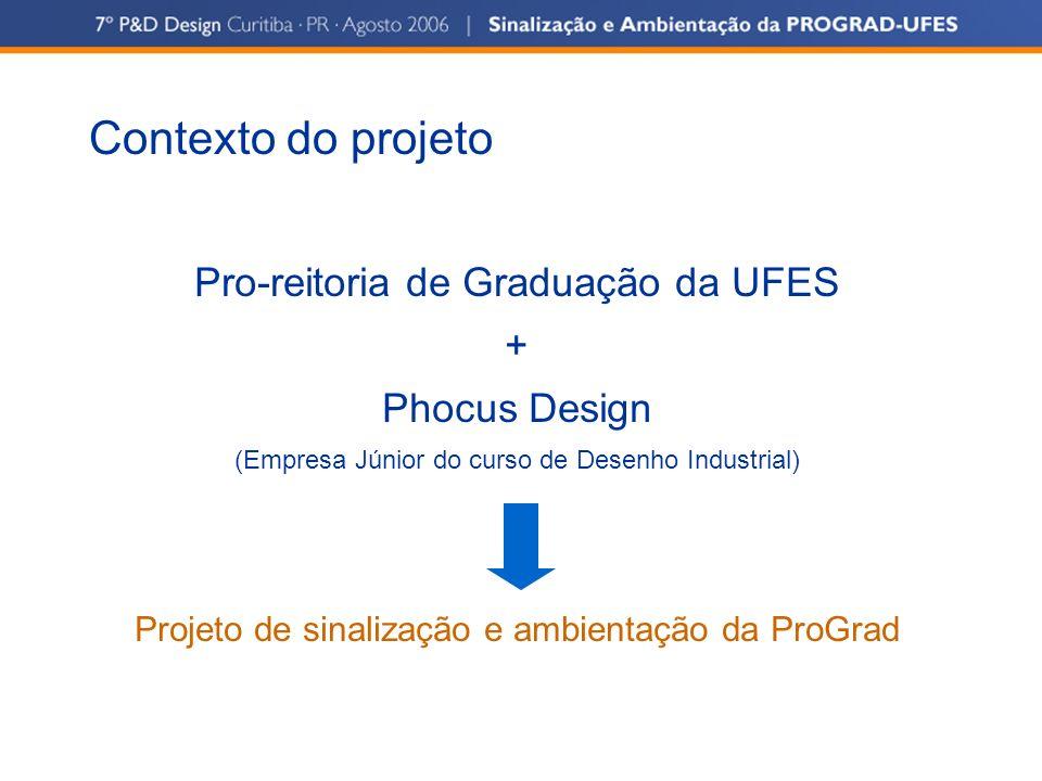 Contexto do projeto Pro-reitoria de Graduação da UFES + Phocus Design