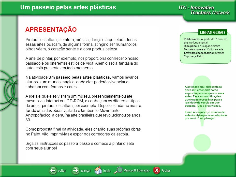 APRESENTAÇÃO LINHAS GERAIS.