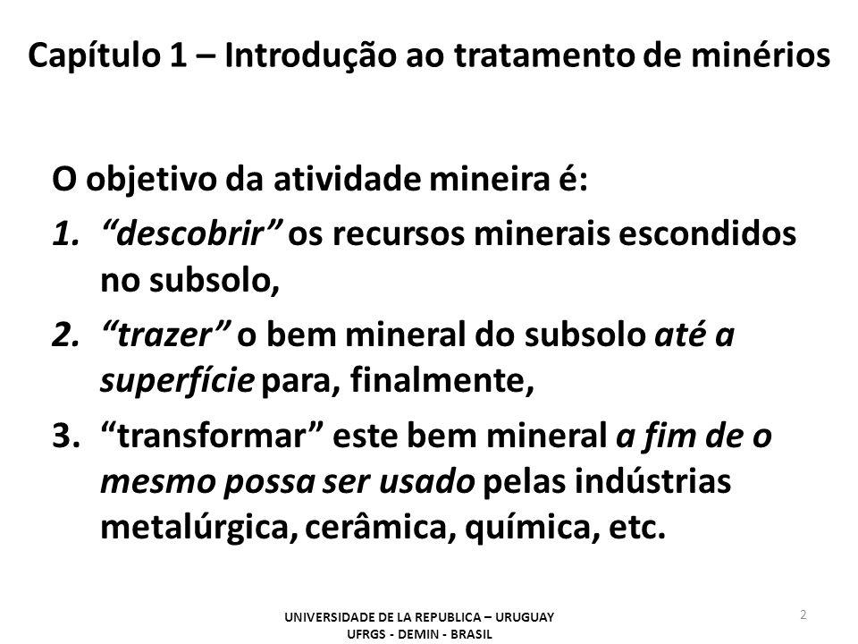 Capítulo 1 – Introdução ao tratamento de minérios