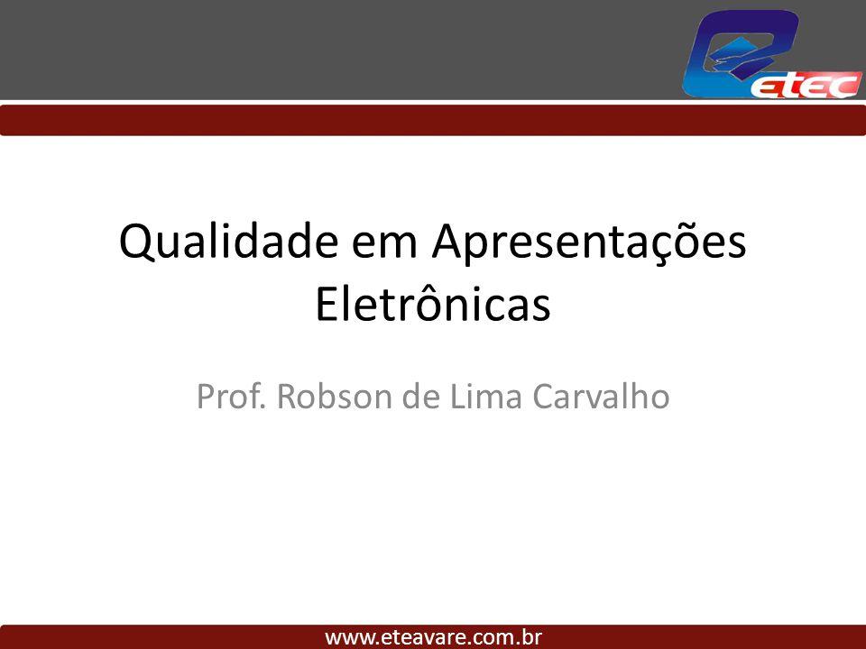 Qualidade em Apresentações Eletrônicas