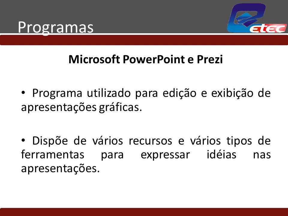 Microsoft PowerPoint e Prezi
