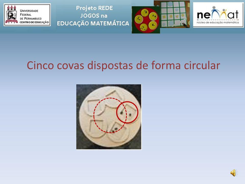Cinco covas dispostas de forma circular