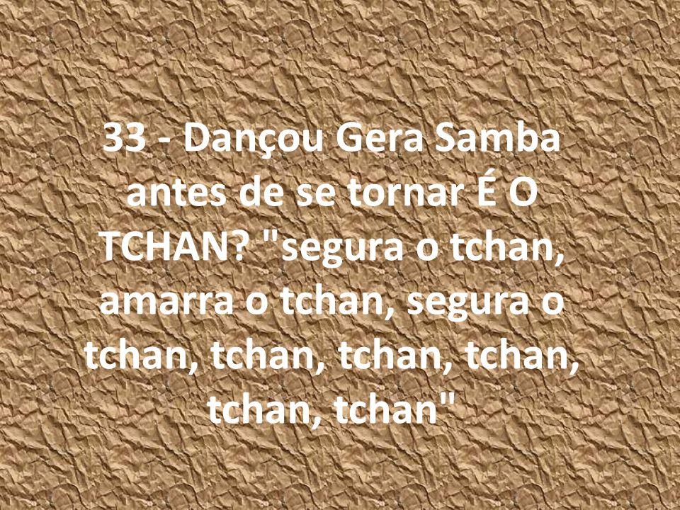 33 - Dançou Gera Samba antes de se tornar É O TCHAN