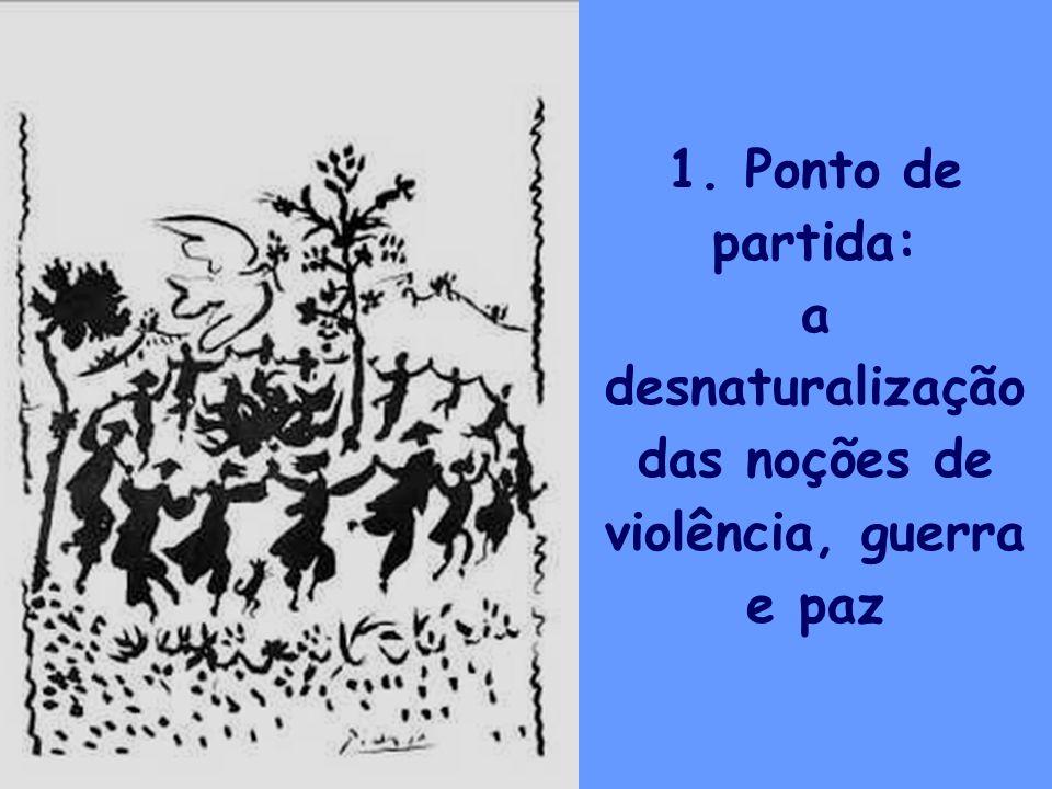 a desnaturalização das noções de violência, guerra e paz