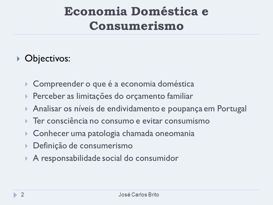 Economia Doméstica e Consumerismo