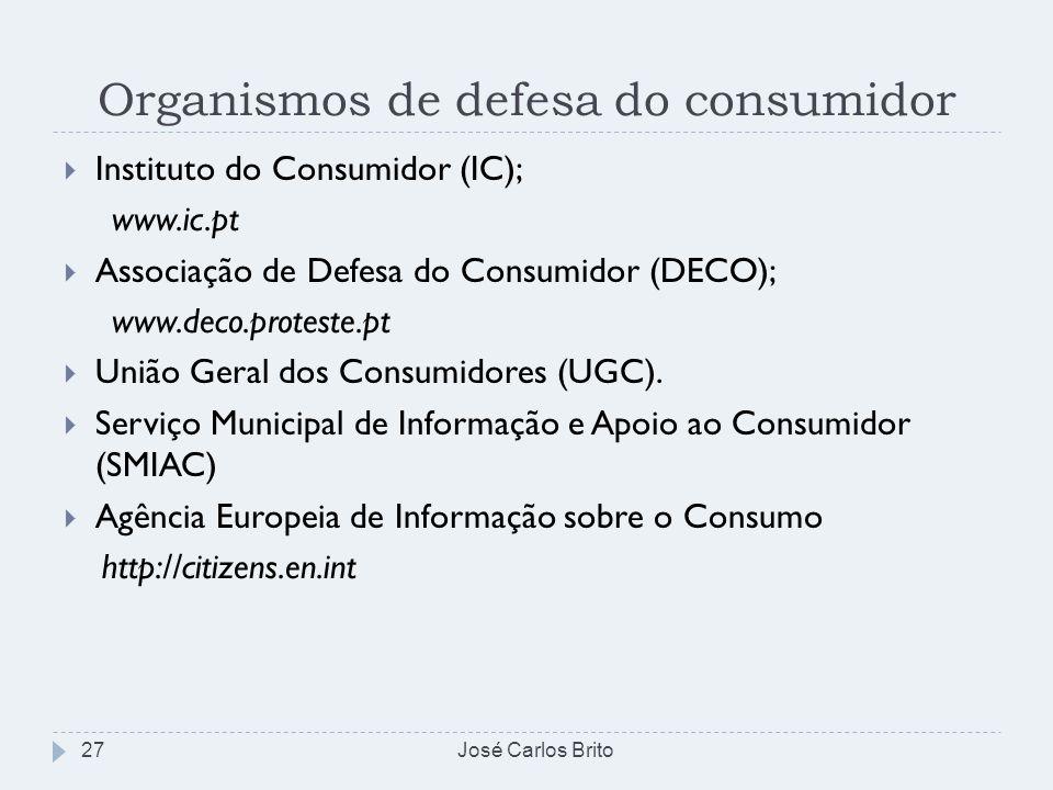 Organismos de defesa do consumidor