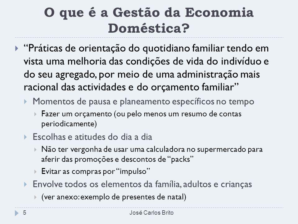 O que é a Gestão da Economia Doméstica
