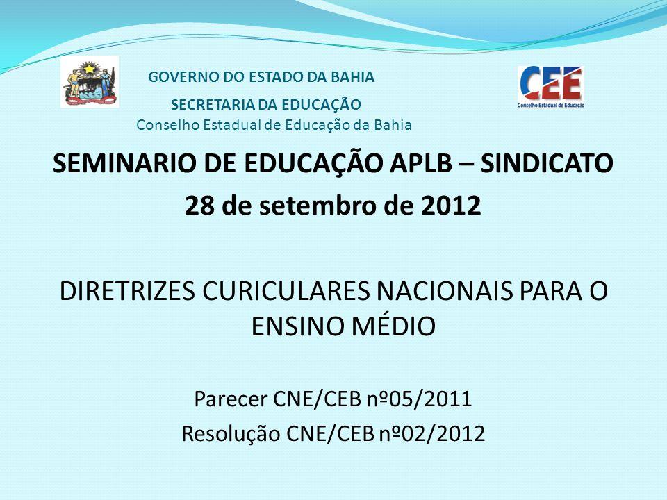 SEMINARIO DE EDUCAÇÃO APLB – SINDICATO