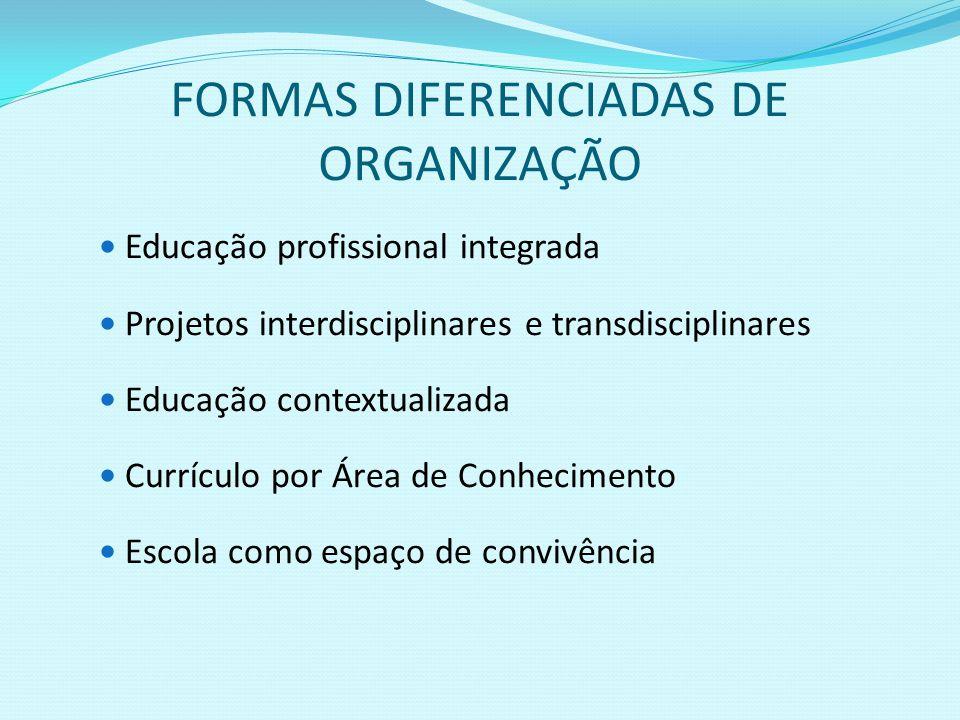 FORMAS DIFERENCIADAS DE ORGANIZAÇÃO