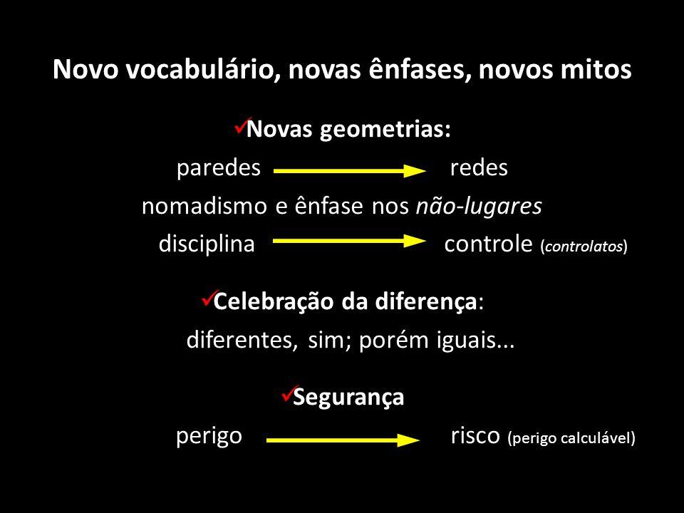 Novo vocabulário, novas ênfases, novos mitos