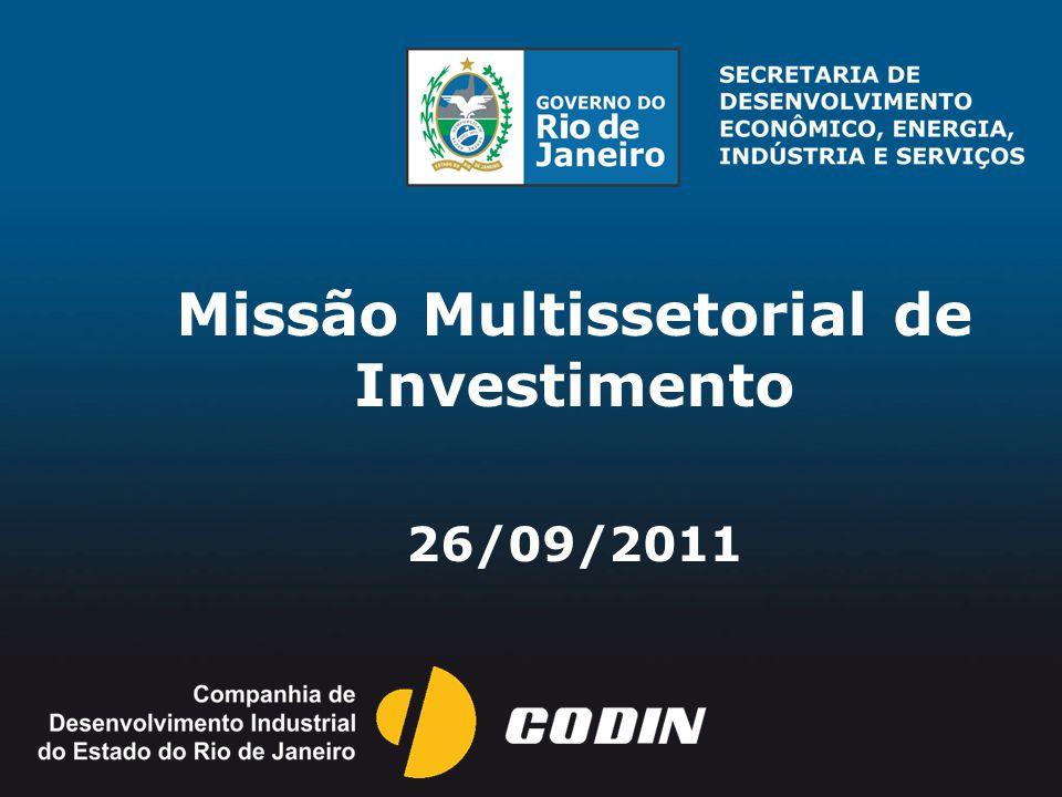 Missão Multissetorial de Investimento 26/09/2011