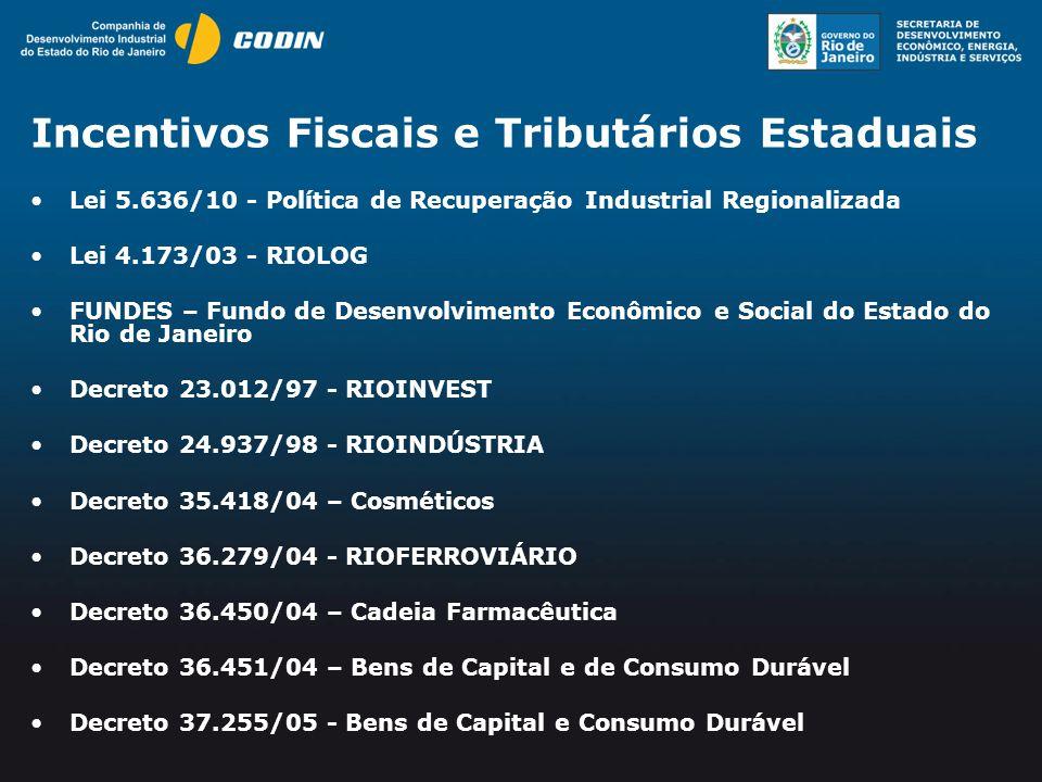 Incentivos Fiscais e Tributários Estaduais