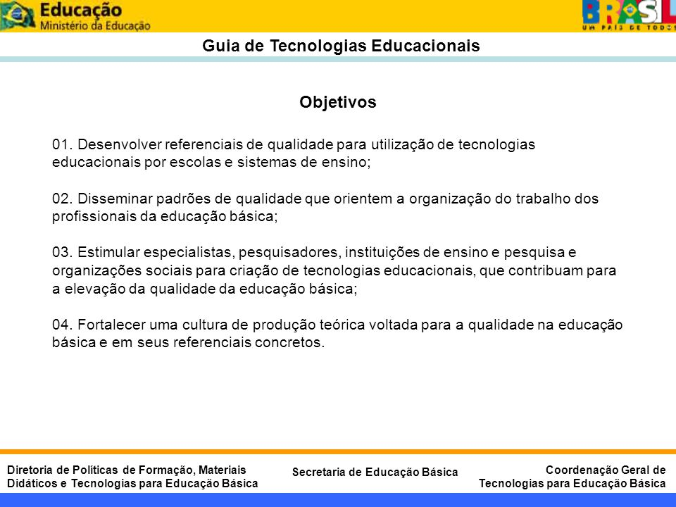 Guia de Tecnologias Educacionais
