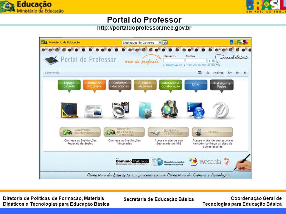 Portal do Professor http://portaldoprofessor.mec.gov.br
