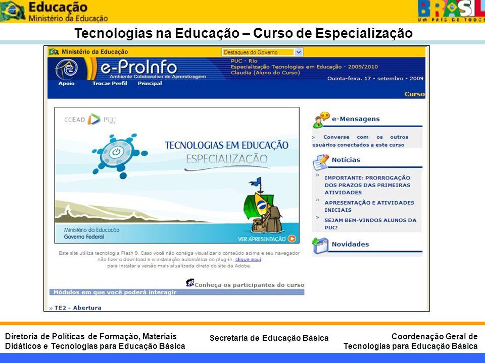 Tecnologias na Educação – Curso de Especialização