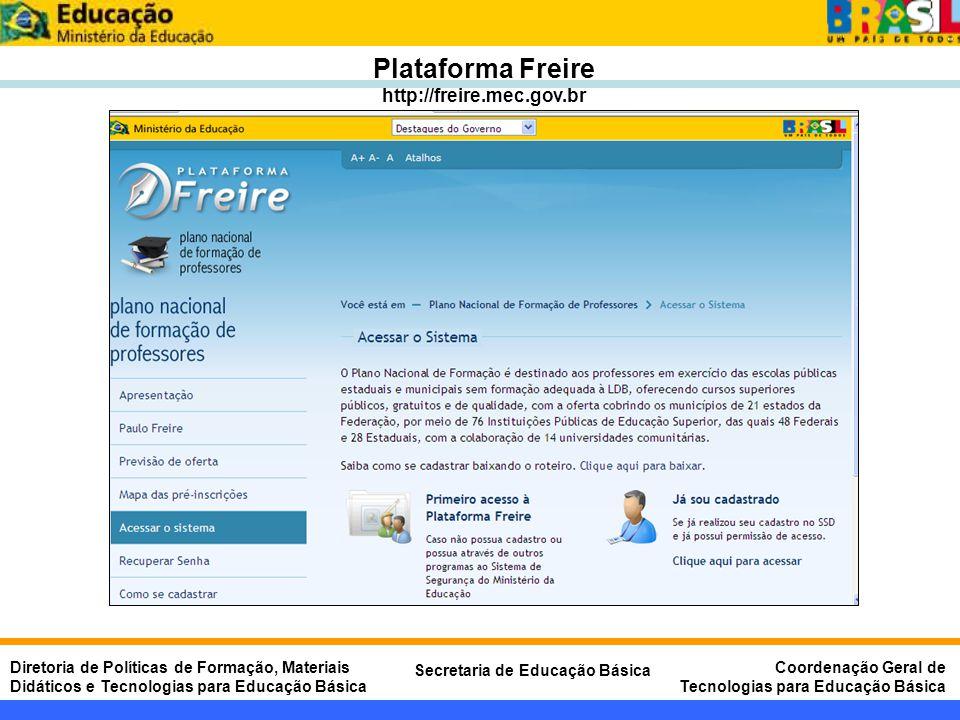 Plataforma Freire http://freire.mec.gov.br