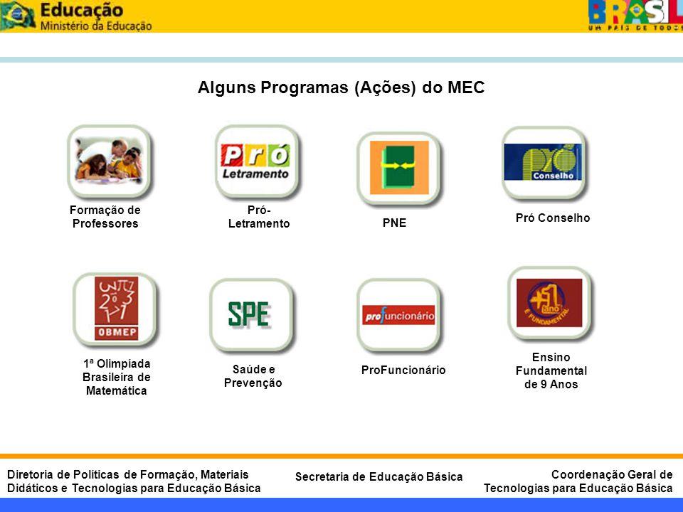 Alguns Programas (Ações) do MEC