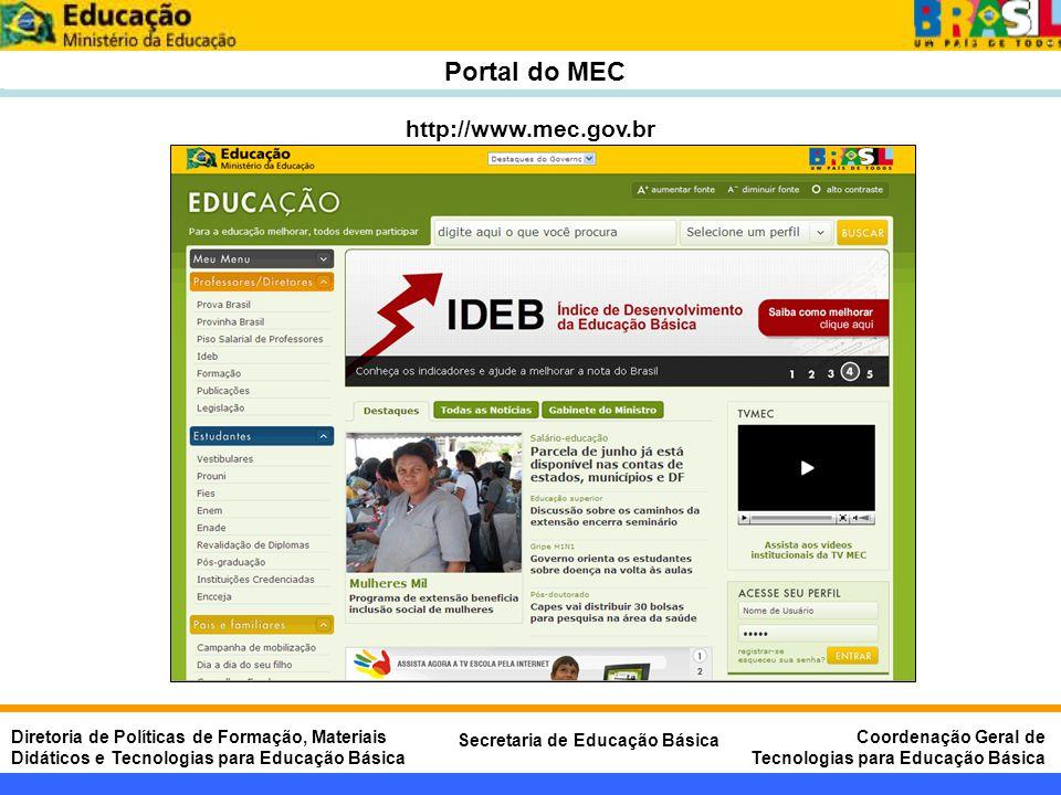 Portal do MEC http://www.mec.gov.br
